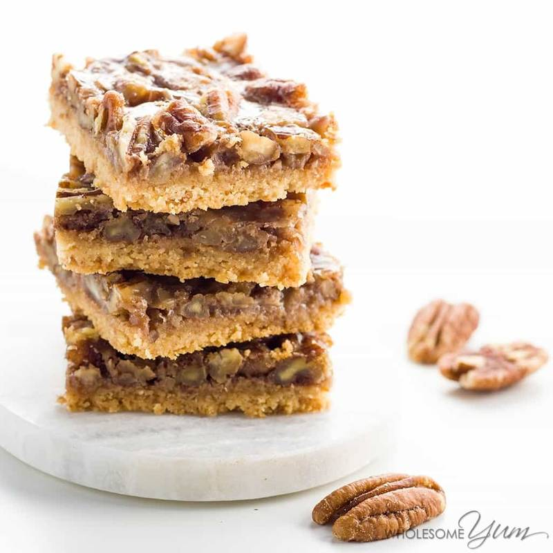 Paleo Pecan Pie Bars (Low Carb, Gluten-free)