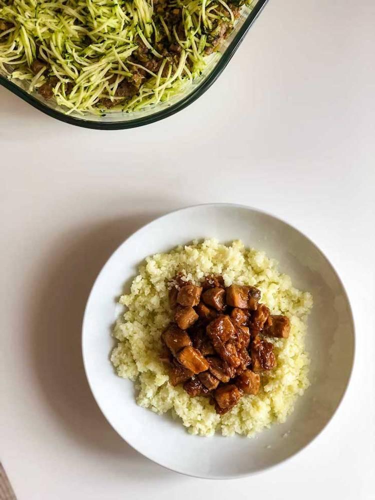Keto Easy Chicken Adobo Recipe with Cauliflower Rice