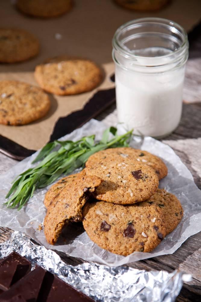Tarragon Salted Dark Chocolate Chunk Cookies (Vegan & Gluten-Free)