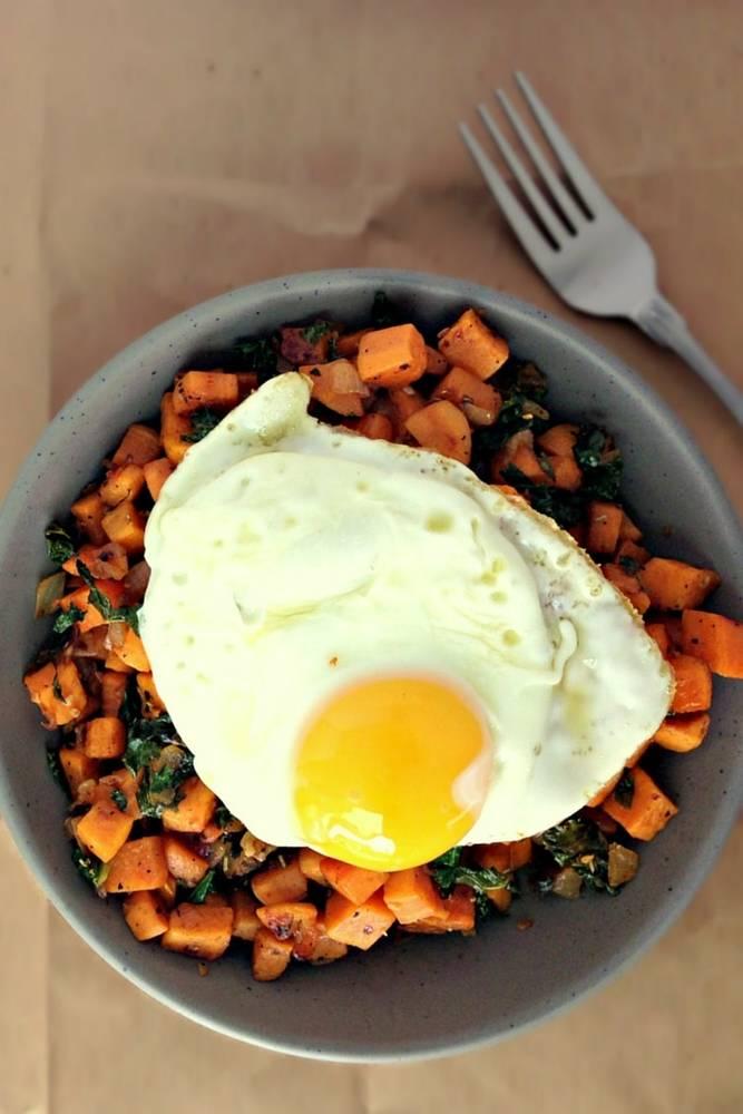 Kale Sweet Potato Breakfast Hash