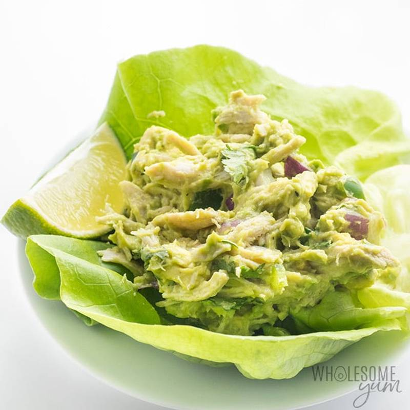 Paleo Whole30 Chicken Salad with Avocado Recipe