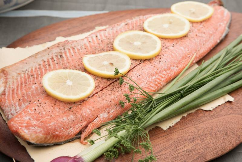 Easy Oven-Baked Salmon With Herbs