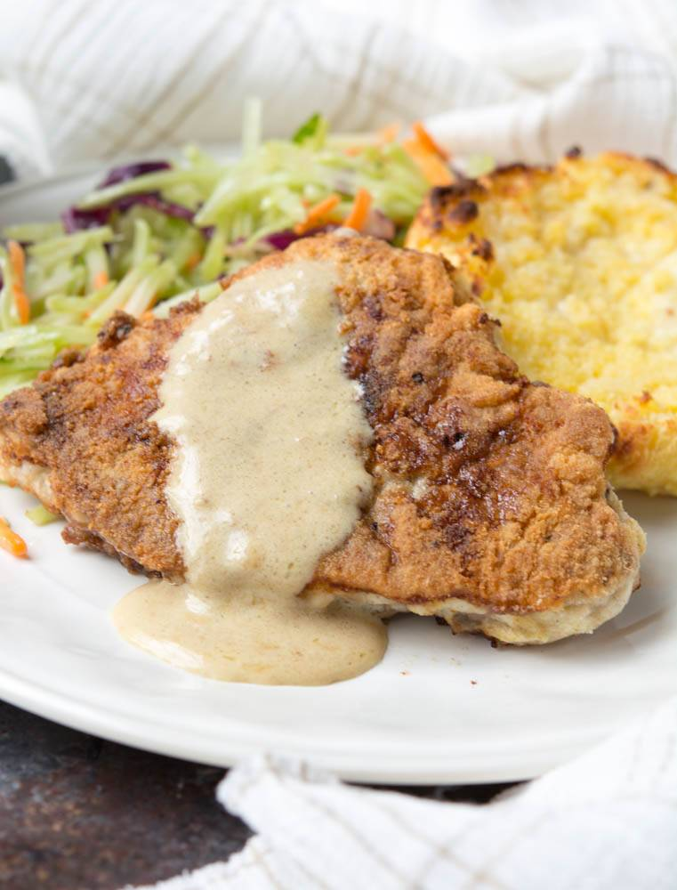 Low Carb Country Fried Steak
