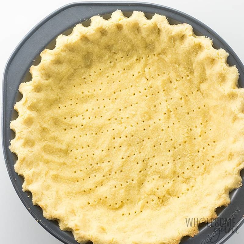 Coconut Flour Pie Crust Recipe - Low Carb & Gluten-Free