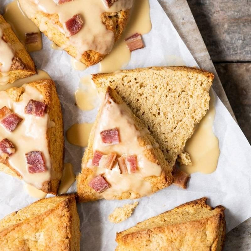 Gluten Free, Paleo & Keto Maple Bacon Scones