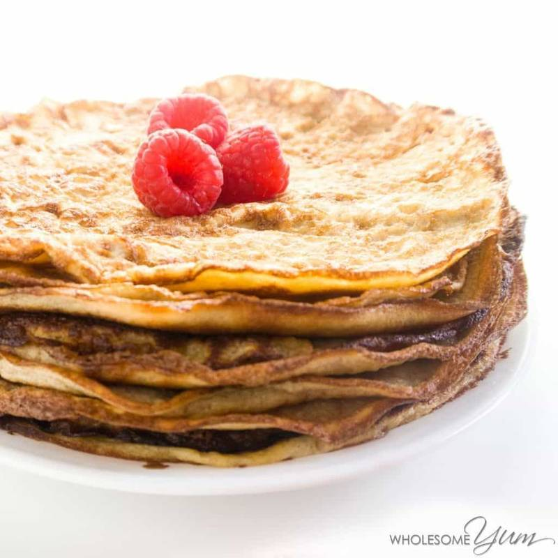 The Best Low Carb Keto Cream Cheese Pancakes or Crepes Recipe
