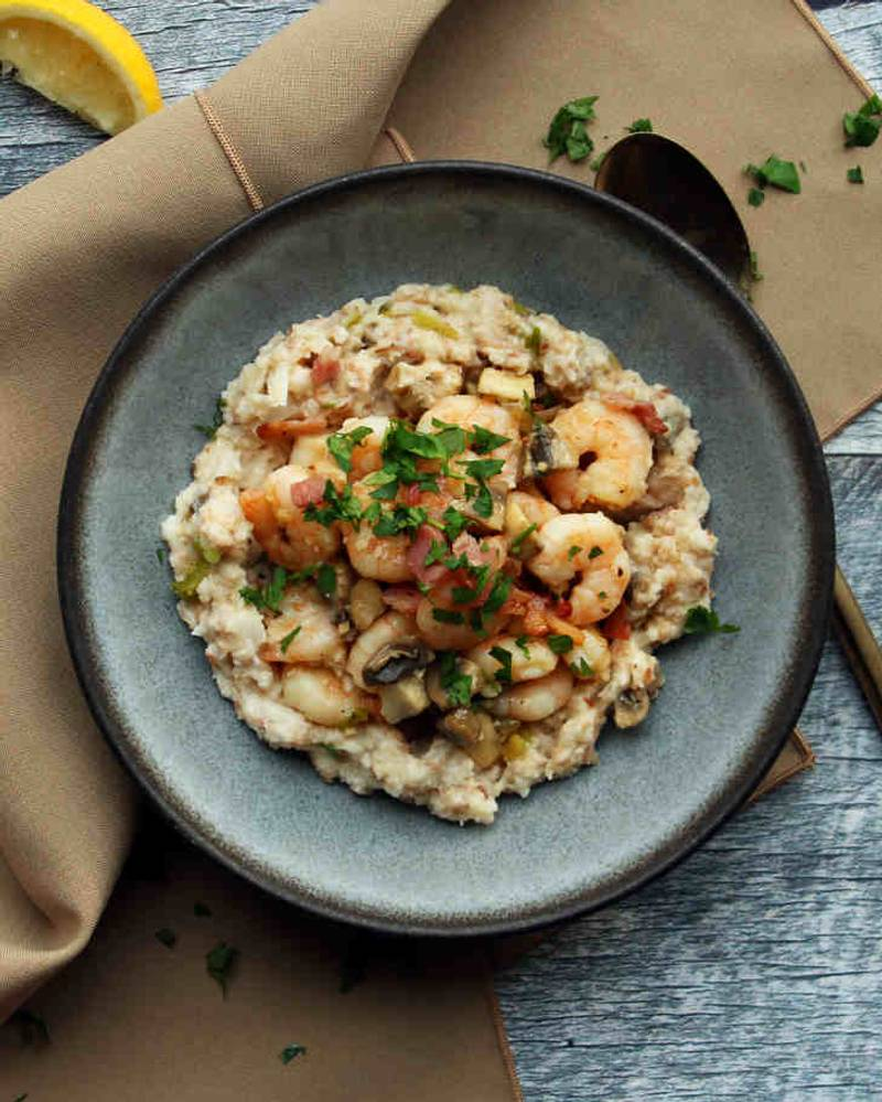 Keto Shrimp and Grits Recipe