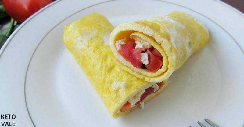 Egg Wrap with Feta Cheese