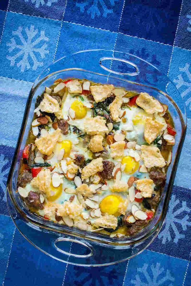 Keto Sausage Egg Bake Recipe