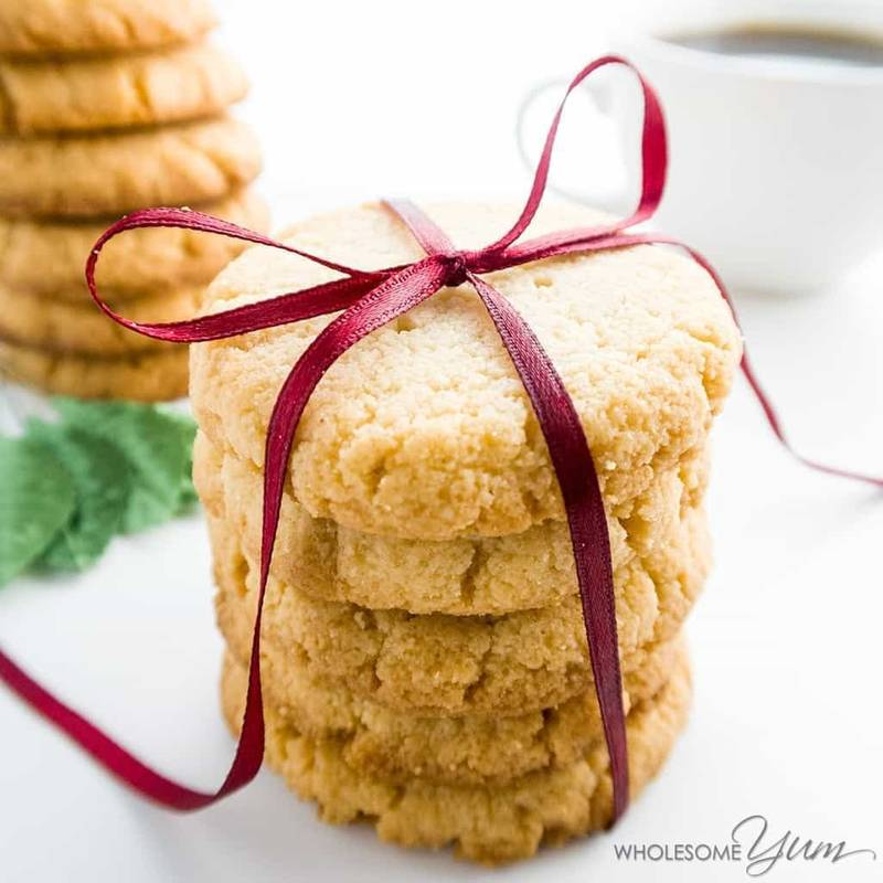 Low Carb Almond Flour Cookies Recipe (Gluten-Free Shortbread Cookies) - 4 Ingredients