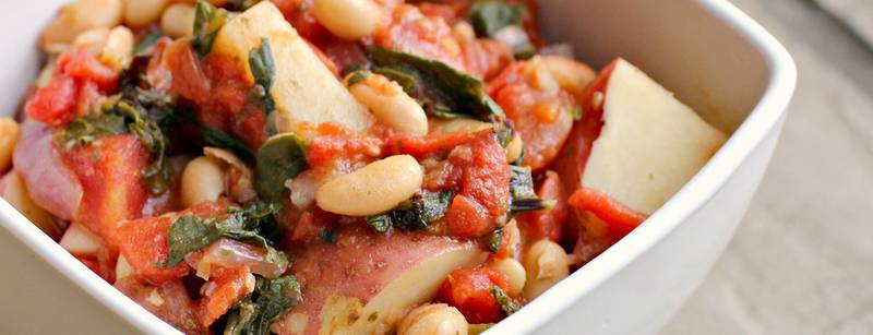 Italian White Bean, Kale and Potato Stew
