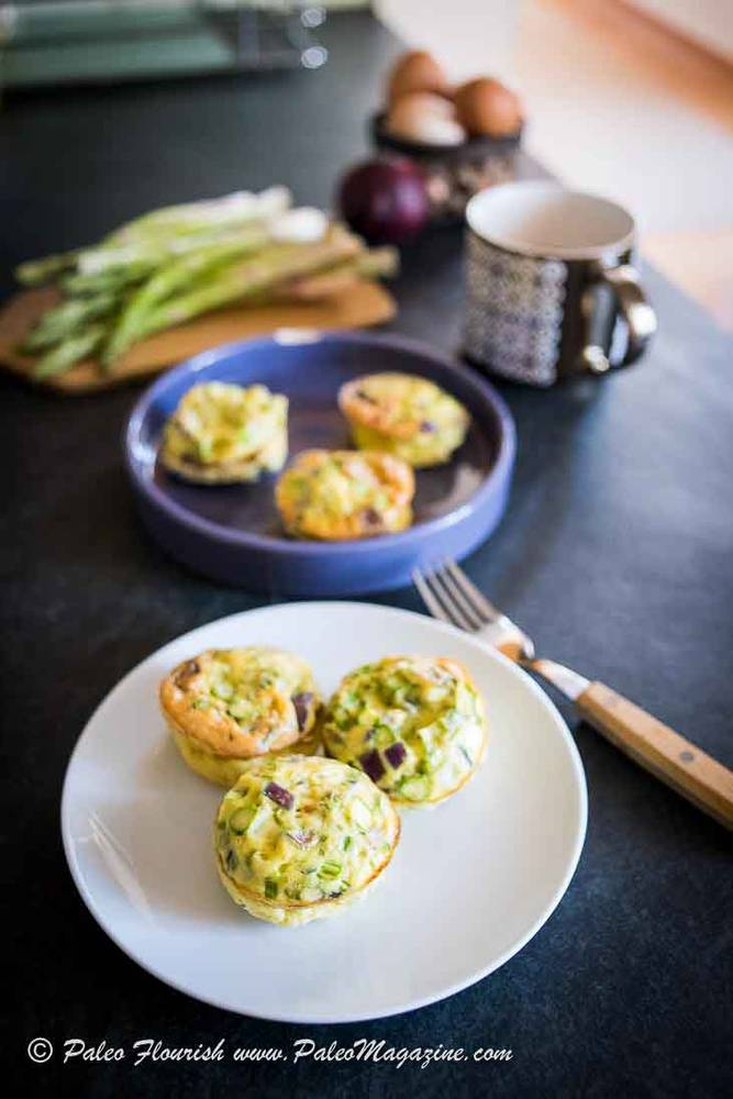 Keto Bacon Asparagus Mini Frittata Recipe [Paleo, Dairy-Free] – How To Make Keto Egg Muffins