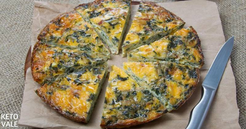 Low Carb Crustless Spinach Quiche