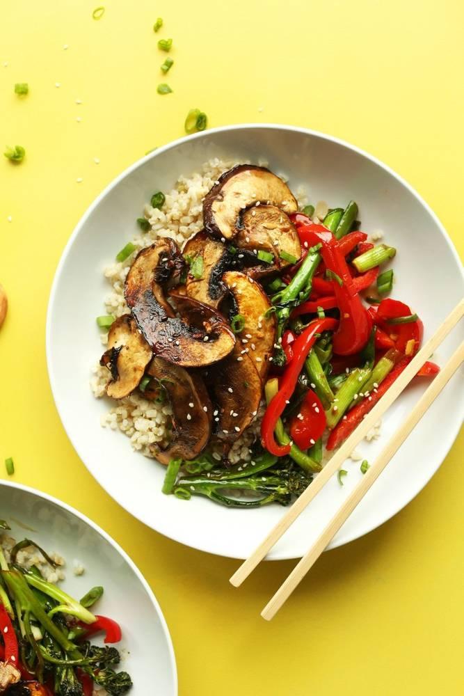 30-minute Portobello Mushroom Stir-Fry