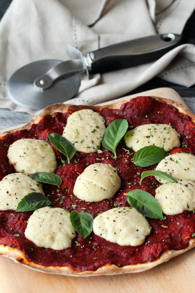 Vegan Mozzarella - Stretchy, Melty and Divine on Pizza!