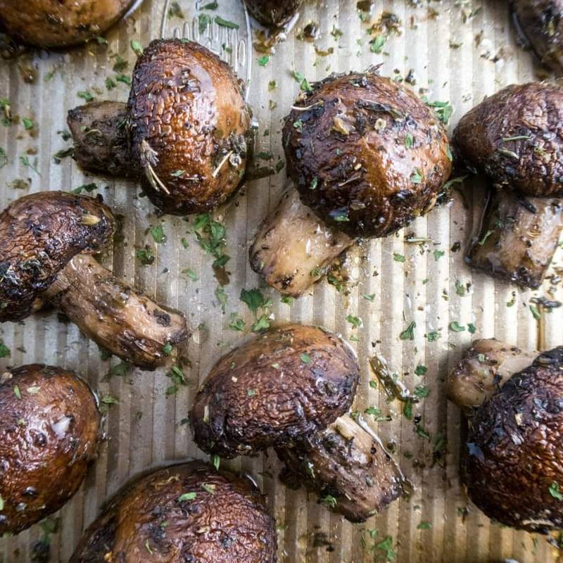 Roasted Portobello Mushrooms with Provencal Herbs (Paleo, Low Carb)