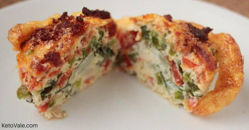 Spinach and Sausage Egg Bites
