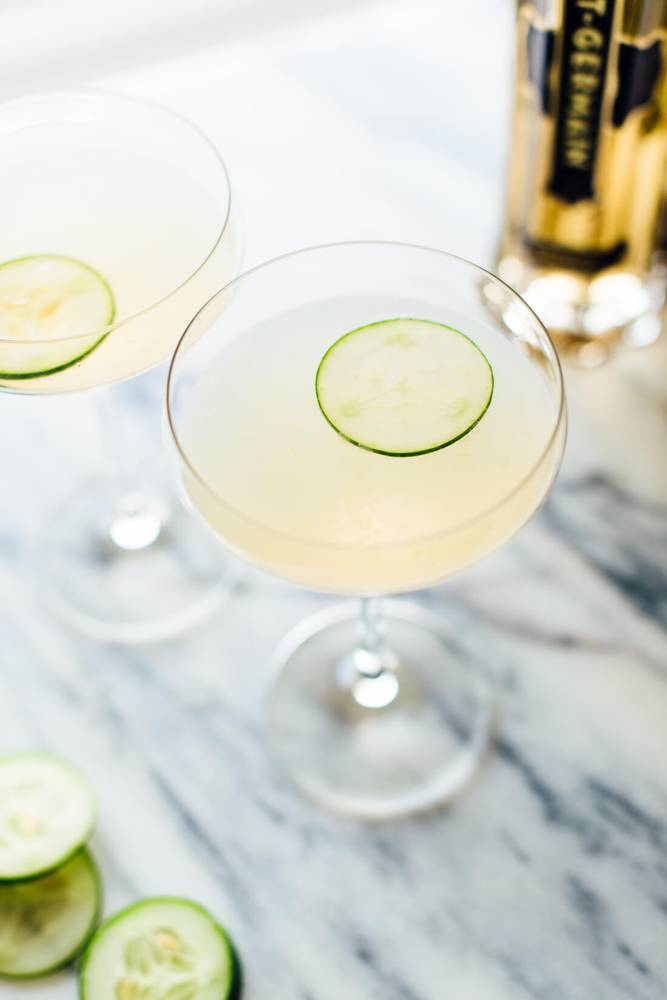 Cucumber Elderflower Gimlet