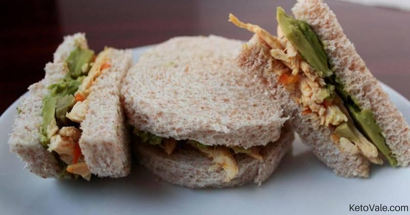 90 Second Almond Bread Chicken Sandwich