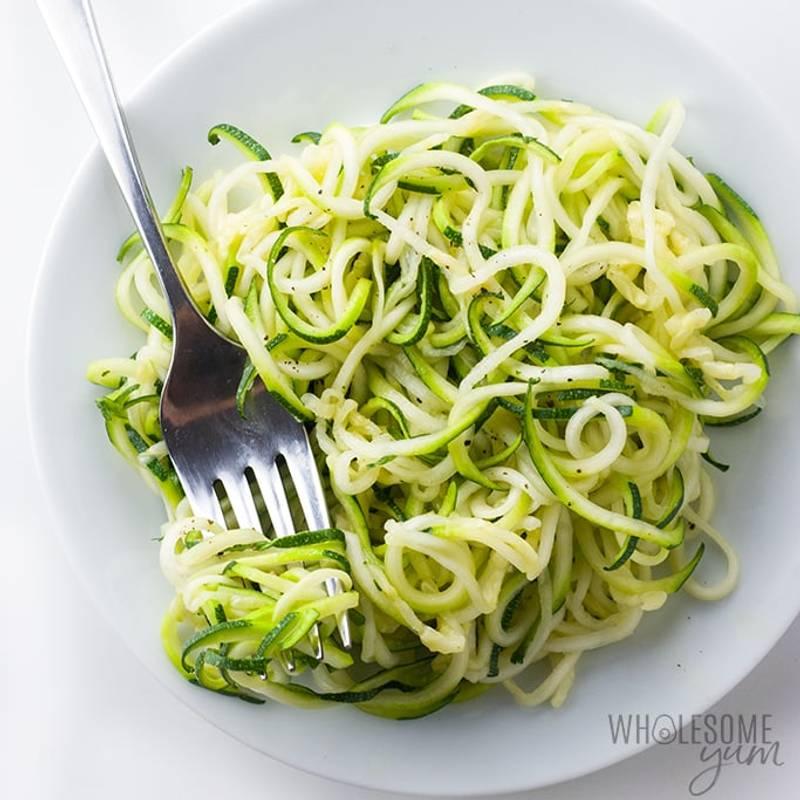 Simple Low Carb Zucchini Noodles Recipe