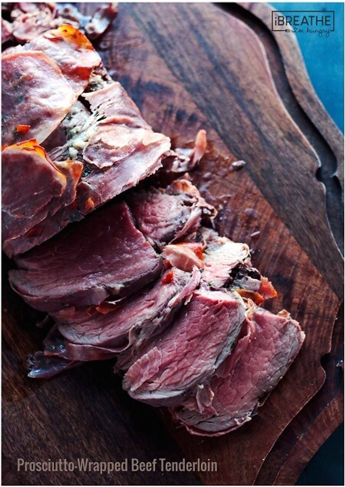 Prosciutto-Wrapped Whole Roasted Beef Tenderloin