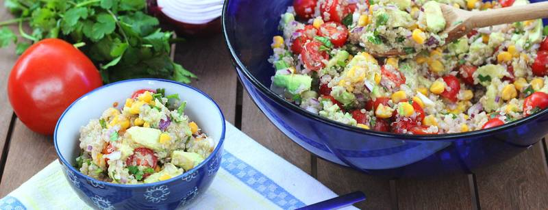 Quinoa Corn and Avocado Salad