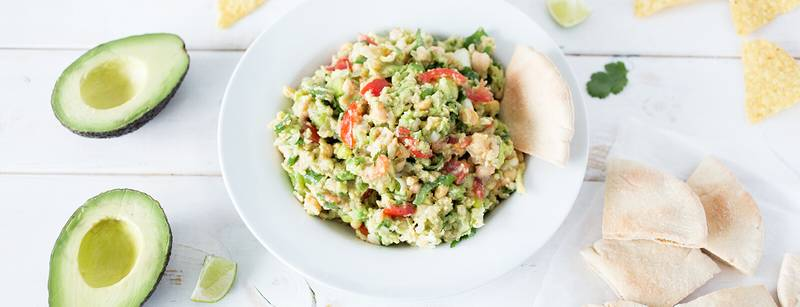 Smashed Chickpea Avocado Dip