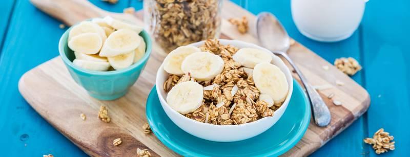 Banana Almond Granola