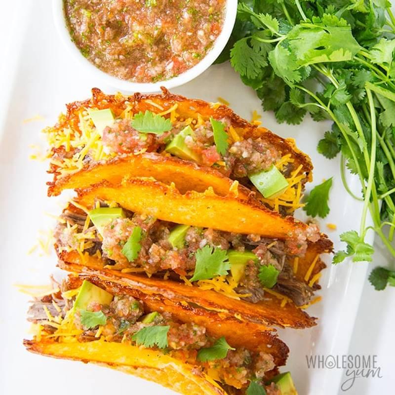 Low Carb Keto Cheese Taco Shells - Fast, Easy & Crispy