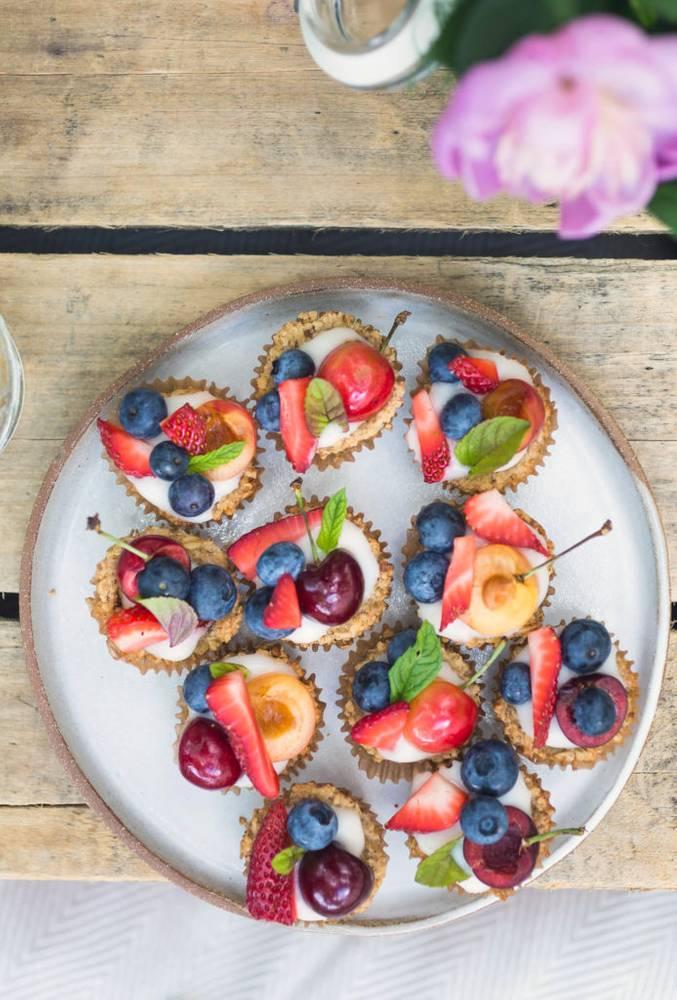 Fruit & Yogurt Granola Tarts