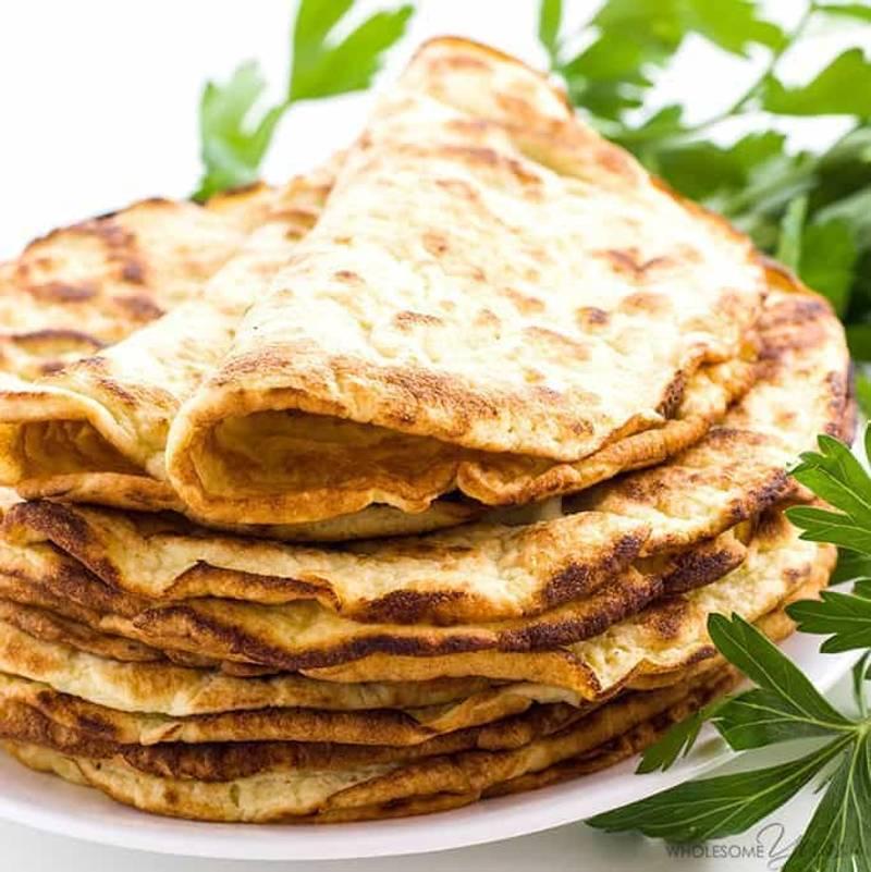 Low Carb Paleo Tortillas Recipe - 3 Ingredient Coconut Flour Wraps