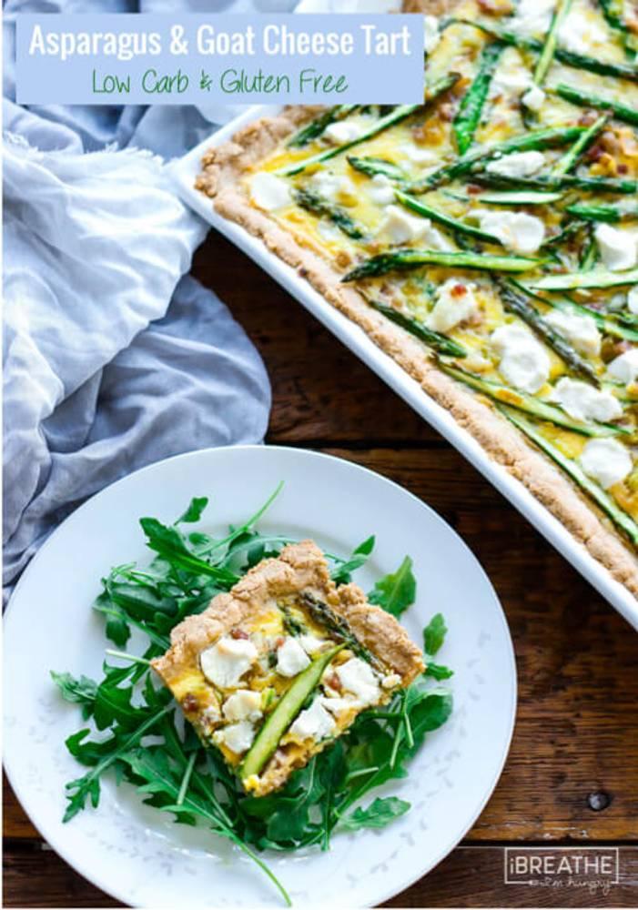 Asparagus, Leek & Pancetta Tart - Low Carb & Gluten Free