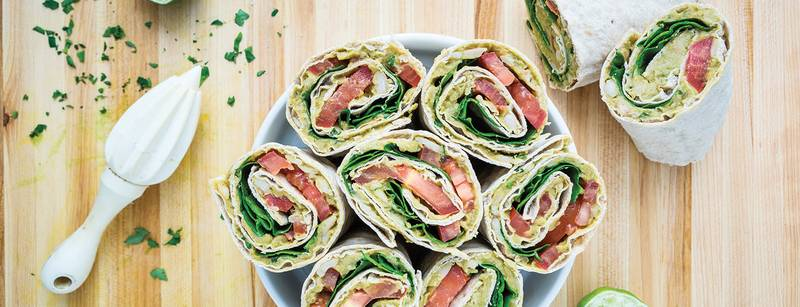 Avocado & White Bean Salad Wraps