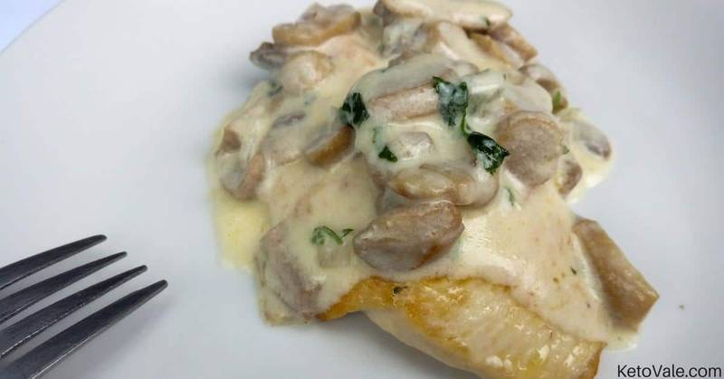 Pan-Fried Chicken Breast with Creamy Mushroom Sauce