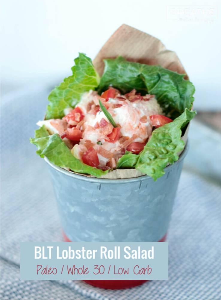 BLT Lobster Roll Salad - Low Carb & Paleo
