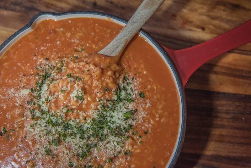 Vegetarian Tomato Risotto