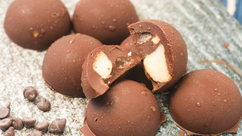 Chocolate-covered macadamia nut fat bombs