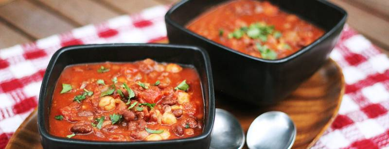 Three Bean Chili for a Crowd