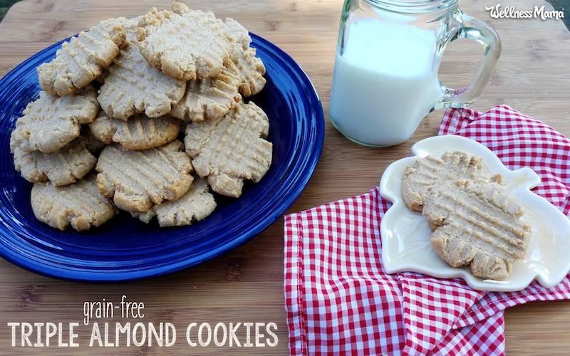 Triple Almond Cookies Recipe