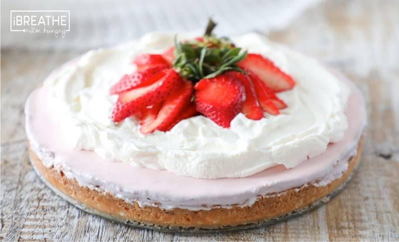 Keto Strawberry Icebox Pie - Low Carb