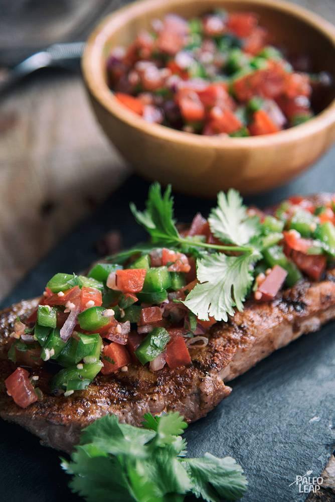 Pico de Gallo with Chili-Spiced Grilled Steak Recipe