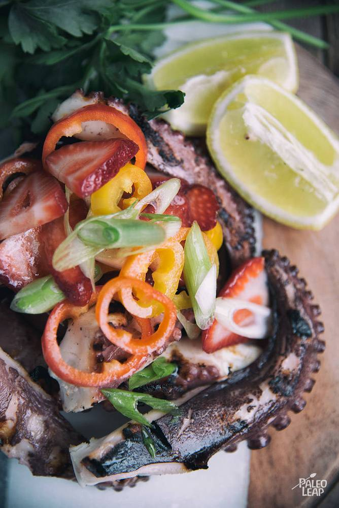 Grilled Octopus with Strawberry Salsa Recipe