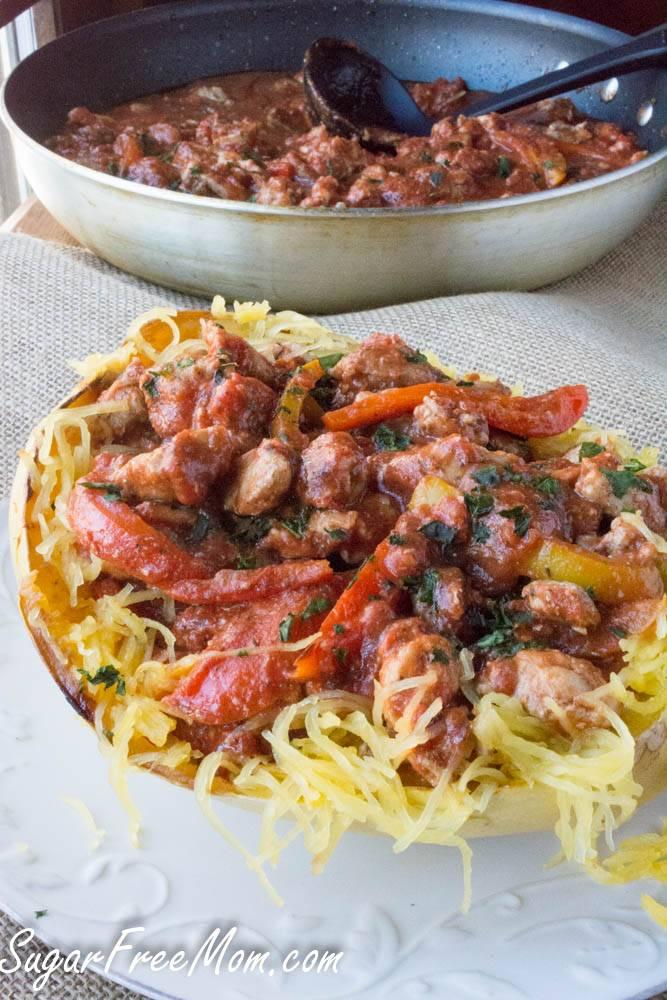 Chicken Cacciatore Stuffed Spaghetti Squash