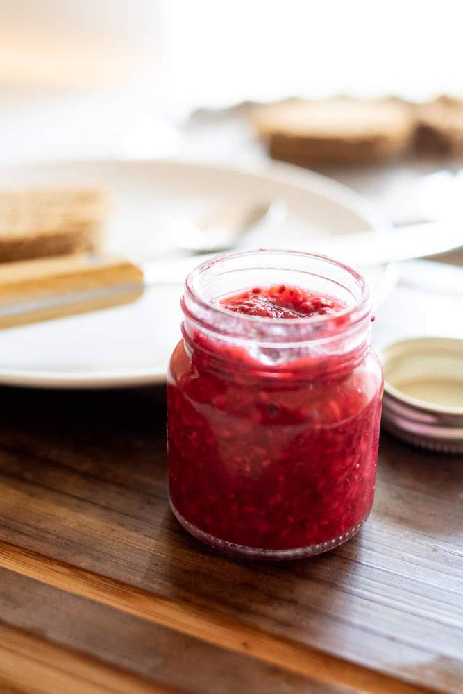 Keto Raspberry Chia Jam