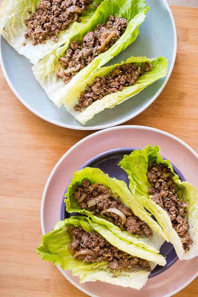 Keto Asian Ground Beef Lettuce Wraps Recipe
