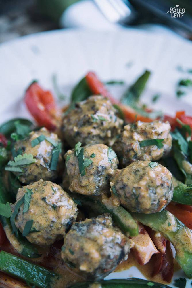 Coconut Curry Chicken Meatballs Recipe