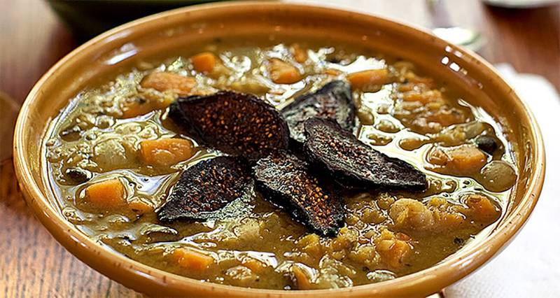 Moroccan Bean Stew with Sweet Potatoes