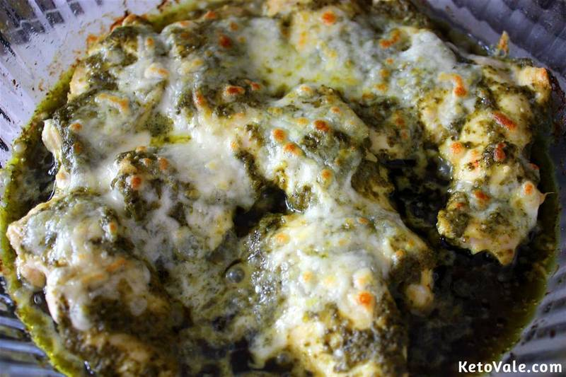 Pesto Chicken with Mozzarella