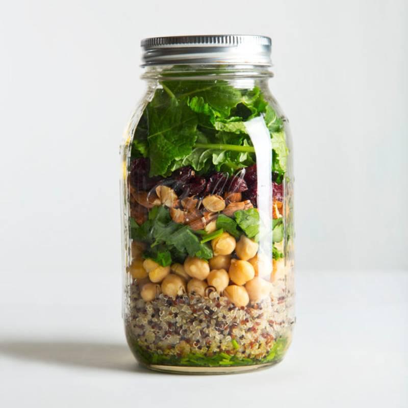 Quinoa & Kale Mason Jar Salad