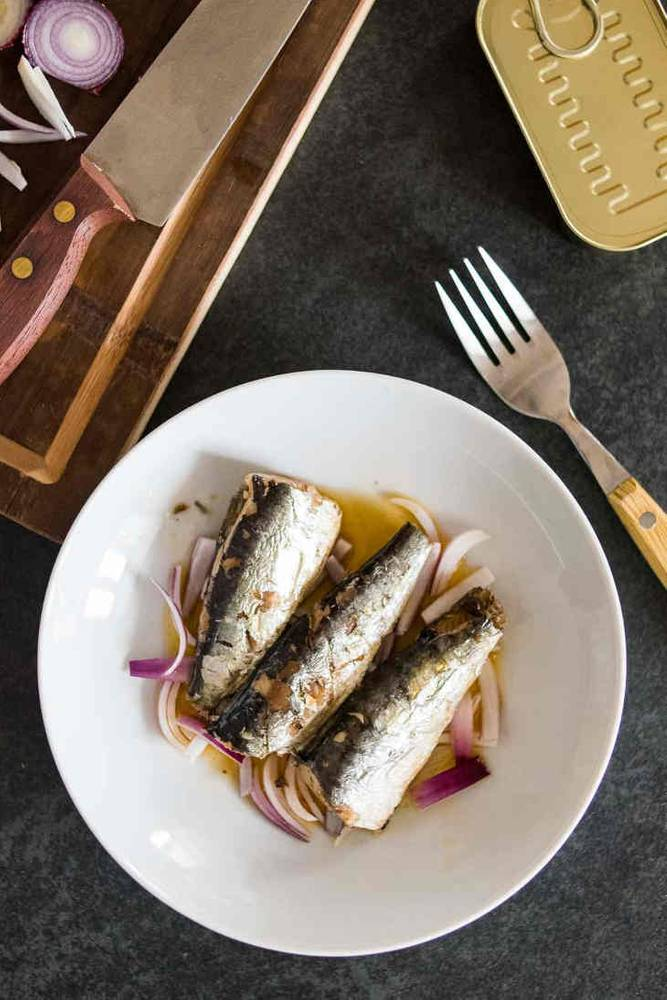 Five-Minute Keto Sardines and Onions Recipe